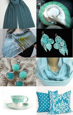 """""""To the edge of turquoise...""""Curated by Türkan Gençalp  @ https://www.etsy.com/shop/woolopia Featuring my Natural nautilus shell/ 925 silver focal bead (item number 8710) @ https://www.etsy.com/listing/108015059/natural-nautilus-shell-925-silver-focal?ref=tre-2726128012-2"""