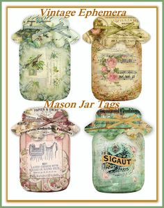 cottage sheet printable tags - Bing Images - mason jars
