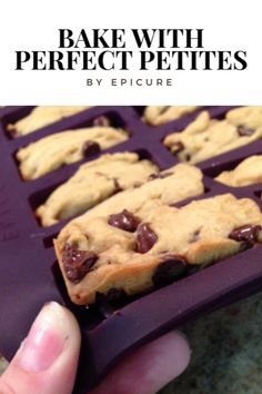 Make 30 perfect sized snacks with the Epicure Perfect Petites Pan. Homemade Desserts, Easy Desserts, Delicious Desserts, Yummy Food, Cookie Recipes, Snack Recipes, Dessert Recipes, Epicure Steamer, Epicure Recipes
