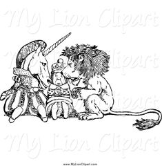 alice in wonderland lion and unicorn에 대한 이미지 검색결과