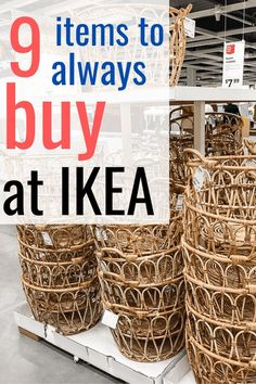 What To Buy At Ikea Affordable home decor at IKEA. 9 of the best things to buy at IKEA and tips to save you money. I listed some of the best IKEA finds and wher Diy Crafts For Home Decor, Diy Crafts To Sell, Home Decor Hacks, Home Decor Sets, Do It Yourself Ikea, Ikea Decor, Kmart Decor, Decoration Bedroom, Diy Crafts Home