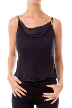 Like this Tadashi Shoji top? Shop this without using money! Trade. Shop. Discover. #fashionexchange #prelovedfashion  Black Cami Top by Tadashi Shoji