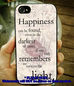 Happiness Quote Harry Potter iPhone Case 4 / 4S / by TRICOIDDESIGN, $15.99