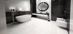 Obklady 25x75, černobílá kombinace   Série obkladů   SIKO KOUPELNY Illusions, Bathtub, Bathroom, Standing Bath, Washroom, Bathtubs, Bath Tube, Full Bath, Optical Illusions