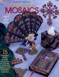 Stained Glass Mosaics NEW Plastic Canvas Pattern Leaflet - 30 Days To Shop & Pay