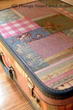 Decoupage Vintage Suitcase