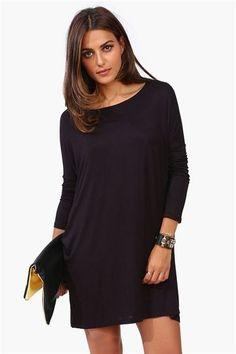 Basic Fall Dress in Black