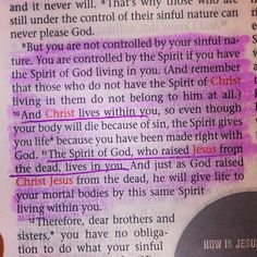 And Christ lives WITHIN YOU... Take a moment to let that sink in. #Bible #Romans8