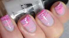 dotter stripes. instead of splatter or nail art brushes this effect is done with a dotting tool!