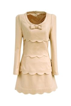 Petal Edge Cream Dress