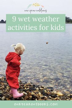 9 things to do in the rain with children Weather Activities For Kids, Forest School Activities, Outdoor Activities For Kids, Kids Outdoor Play, Outdoor Fun, Weather Experiments, Rainy Day Fun, Mud Kitchen, Wet Weather
