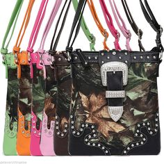 Camouflage Print Rhinestones Buckle Deco Cross Body Messenger Bag #GetEverythingElse #MessengerCrossBody