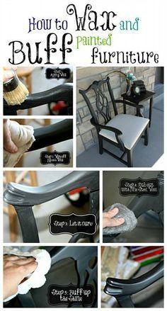 Waxing furniture