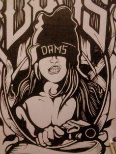 Girl arogant art work
