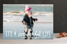 A Wonderful Life Holiday Postcards by Chasity Smith at minted.com