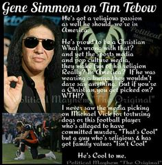 """Tim Tebow & Gene Simmons are """"Cool to me!"""" 