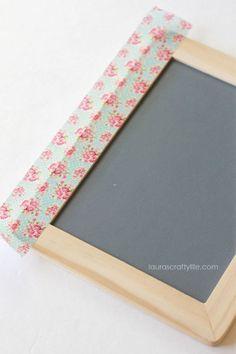 add washi tape to chalkboard