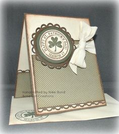 St Patrick's Day Handmade Card  4 Leaf by BondGirlCreations26, $5.00