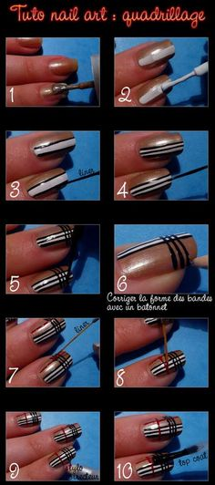 Burberry Nails- this would be cute on the ring finger with all black nails for the rest or all red for the rest