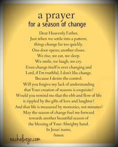 A Prayer for A Season of Change