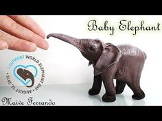 Polymer Clay Baby Elephant Sculpture Time Lapse for World Elephant Day - YouTube
