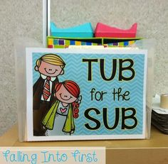 Sub Tub. Start your own with this set up and free printable!
