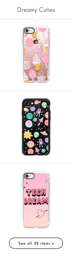 """""""Dreamy Cuties"""" by casetify ❤ liked on Polyvore featuring accessories, tech accessories, iphone case, iphone cases, apple iphone case, pattern iphone case, slim iphone case, vintage iphone case, iphone hard case and iphone cover case"""