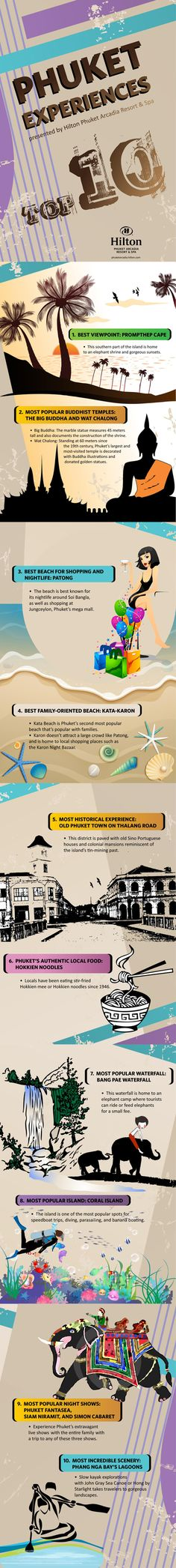 Hilton Phuket Arcadia Resort & Spa Showcases The Best Of Phuket With New Infographic #travel #infographic