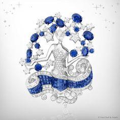 Zodiac Set Virgo clip, Palais de la chance collection, Van Cleef & Arpels