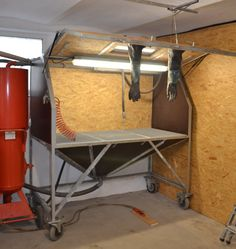 Eigenbau Sandstrahlkabine Sandstrahler DIY Sandblasting cabinet Sandblas...