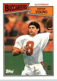 1987 Topps Football Card 384 Steve Young Tampa Bay Buccaneers By Topps 4 00 1987 Topps Football Ca Tampa Bay Buccaneers Football Cards Buccaneers Football