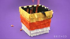 How to Make a Pinata Candy Bucket