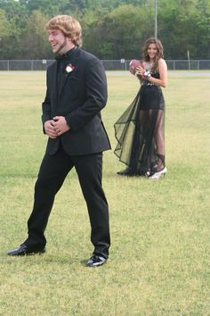 My prom pictures. Football themed.