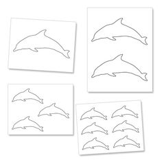 Printable Dolphin Template from PrintableTreats.com