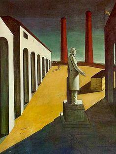 Giorgio de chirico L'enigma di un giorno 1914 MOMA