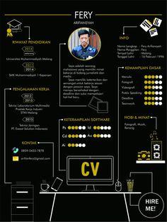 My CV  inspired by Hani Alhoussien on Behance