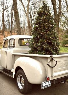 Chevy Truck Merry Christmas, Christmas Truck, Christmas Time Is Here, Rustic Christmas, All Things Christmas, White Christmas, Vintage Christmas, Christmas Holidays, Christmas Decorations