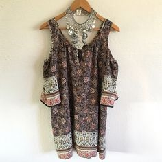 HOST PICK West K. Cut Out Shoulder Blouse NWT Beautiful cut out shoulder blouse. It is a bohemian printed pattern. Perfect for summer with wedges or sandals. It has a relaxed look. True to size. New with Tags :) West K Tops