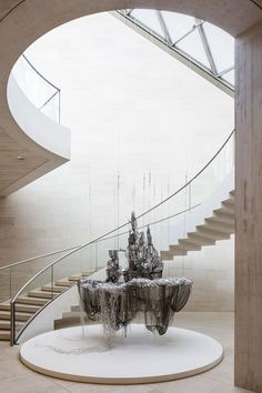 Lee Bul: Shaping Science Fiction Fantasies Out of Crystal and Glass… Interior Staircase, Modern Staircase, Staircase Design, Interior Architecture, Interior And Exterior, Stair Handrail, Staircase Railings, Stairways, Spiral Staircases