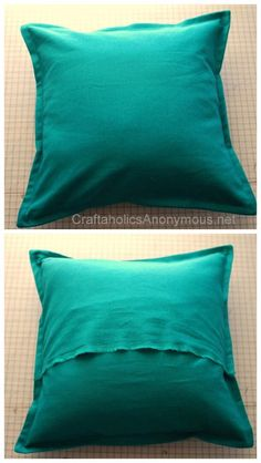 How to Sew a Pillow Cover with a Border TUTORIAL