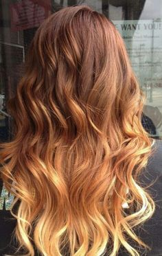 Light ombre hair - the right kind of ombre. It's blended well