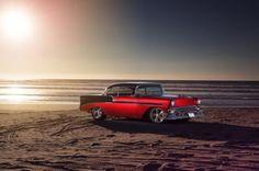 1956-chevrolet tri five red