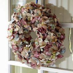 Hydrangea wreath...love the hues in this wreath