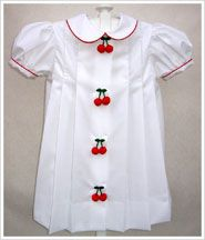 The cherry dress from The Women's Exchange in St. Louis, so classic.  The boys button-on suit as just as sweet!