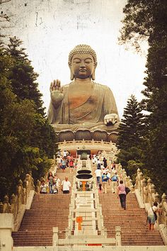 Big Buddha Ngong Ping, Outlying Islands, Hong Kong China - Amazing. Got me thinking too, maybe I'll start a travel blog when I get planning...