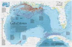 Map of the Deepwater Horizon oil spill in the Gulf of Mexico