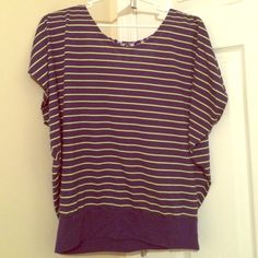 Fashion Top Striped Fashion Top with embellishment on back! Energie Tops Tees - Short Sleeve