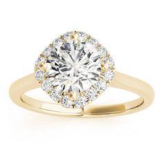 Transcendent Brilliance 14k Gold 1 1/2ct TDW White Diamond Square Halo Engagement Ring (F-G, VS1-VS2) (
