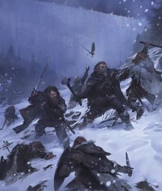 The men of the Night's Watch guard the immense and icy Wall, built in the ancient days of Westeros to hold back the terrible things of the Long Night.
