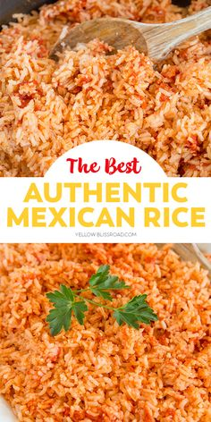 Mexican Rice Recipes, Easy Rice Recipes, Side Dish Recipes, New Recipes, Cooking Recipes, Favorite Recipes, Easy Mexican Rice, Best Mexican Food, Al Dente